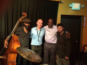 The Jeff Lawrence Quartet members Brad Jones, Dan Willis, Jeffrey Lawrence and Noel Sagerman