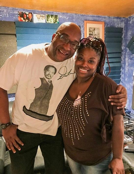 Jeffrey Scott Lawrence with Lovey Rowe in studio
