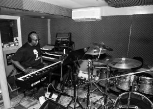 Jeffrey Scott Lawrence alone in the studio