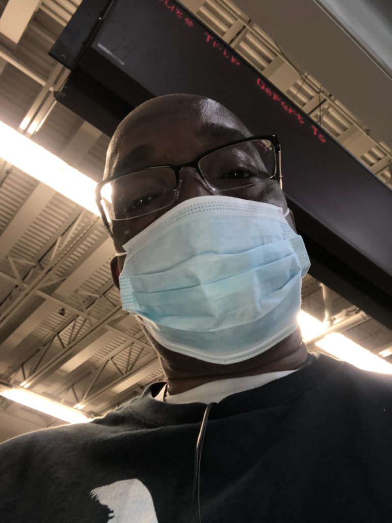 Wearing a mask at work during the Covid-19 era